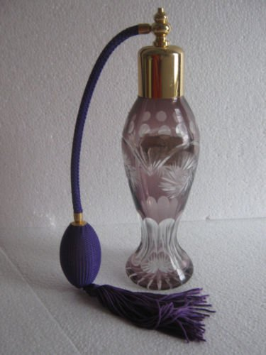 Purple Perfume Bottle w/Pump