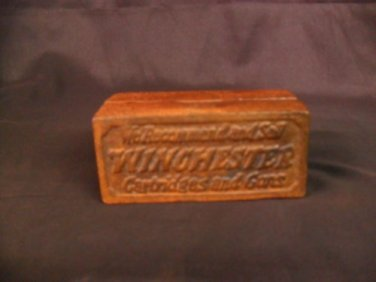 """Cast Iron """"Winchester"""" Coin Bank"""