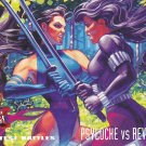 Psylocke vs. Revanche - 1994 Marvel Comic Trading Card #136