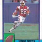 Sammy Martin - Patriots 1990 Topps Football Trading Card #422