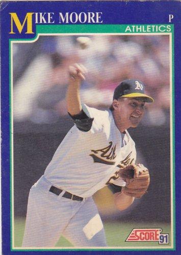 Mike Moore - Athletics 1991 Score Baseball Trading Card #516