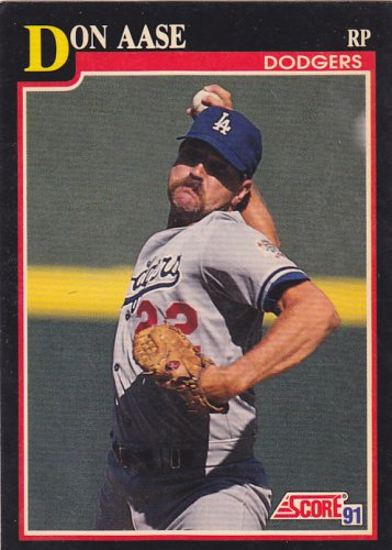 Don Aase - Dodgers 1991 Score Baseball Trading Card #289