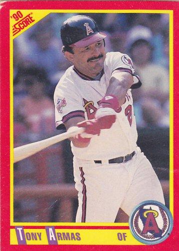 Tony Armas - Angels 1990 Score Baseball Trading Card #378