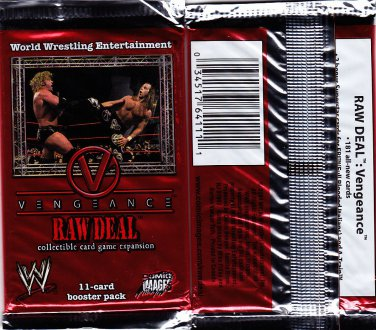 WWE RAW DEAL - Vengeance - Booster Pack Factory Sealed