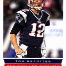 Tom Brady #123 - Patriots 2013 Score Football Trading Card