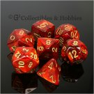 7pcs Set Red Polyhedral Game Dungeons & Dragons Dice - Brand New