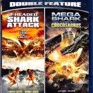 2-Headed Shark Attack / Mega Shark Vs Crocosaurus - Blu-ray Disc 2013 - Like New