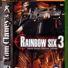 Tom Clancy's Rainbow Six 3 - Xbox 2003 Video Game - Complete - Very Good