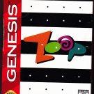 Zoop - Sega Genesis 1995 Video Game - Very Good - COMPLETE