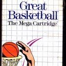 Great Basketball - Sega Master 1987 Video Game - Acceptable