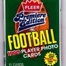 1990 Fleer Premiere Football Cards Factory Sealed Pack