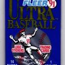Fleer Ultra 1991 Baseball Cards Factory Sealed Pack