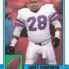 Larry Kinnebrew #210 - Bills 1990 Topps Football Trading Card