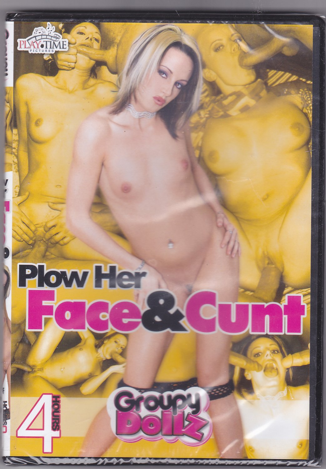 Plow Her Face & Cunt - Adult DVD - Factory Sealed