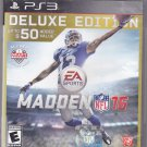 Madden NFL 16 Deluxe Edition -  PlayStation 3, 2015 Video Game - Very Good