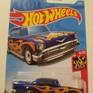 '57 Chevy Blue w/flames - 2017 Hot Wheels - Brand New