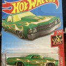'71 El Camino Green W/Flames - Hot Wheels 2017 - Brand New