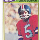 Craig Morton #27 - Broncos 1977 Topps Football Trading Card