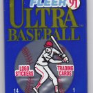 Fleer Ultra 1991 Baseball Cards Factory Sealed Pack