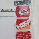 3PK Kansas City Chiefs NFL Face Mask - Factory Sealed