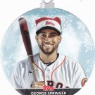 George Springer #WHO-GS - Astros 2020 Topps Baseball Ornament Card