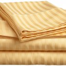 400TC GOLD  STRIPE QUEEN SHEET SET – 100% EGYPTIAN COTTON
