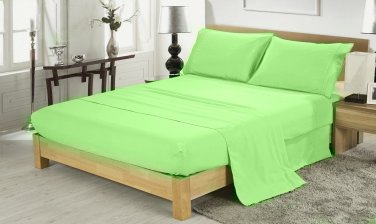 400TC SAGE QUEEN SOLID  SHEET SET � 100% EGYPTIAN COTTON