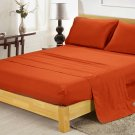 400TC BRICK RED QUEEN SOLID  SHEET SET – 100% EGYPTIAN COTTON