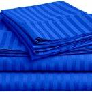 600TC EGYPTION BLUE STRIPE QUEEN SHEET SET – 100% EGYPTIAN COTTON