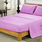 600TC LAVENDER SOLID QUEEN SHEET SET – 100% EGYPTIAN COTTON