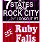 7019 - Rock City Ruby Falls Decal Set for BARNS and BUILDINGS
