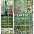 1034 - Advertising Decal Set 14 GHOST SIGNS COKE BUTTE BEER CHARTER MILLER ALES SPIRTS