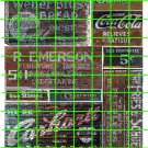 1020 - Advertising Decals Set 35 GHOST SIGNS CARHARTT BREAD COKE COLA EMERSON