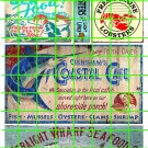 2107 - Seafood Ad Set 4 SEAFOOD LOBSTER COASTAL CAFE RESTAURANT SIGNS