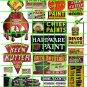5001 - Advertising Decals Set 43 SHERMAN WILLIAMS PAINT KEEN KUTTER HARDWARE SIGNS