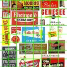 2005 - Ad Poster Set 5 BEER PABST GENESEE CIGARETTES ETC ADVERTISING SIGNS