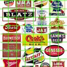 2007 - ASSORTED Beer Set 2 BLATZ IRON CITY COOKS PABST BUD MILLER SIGNS