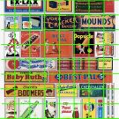 070 - Advert Set 39 CANDY SODAS LIFE SAVERS CRACKERS ELECTRIC SIGNS AND ADS
