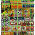 073 - Farm Set 1 WAYNE SEED PIONEER McCORMICK FEED CORN FARM SIGNS AND ADS