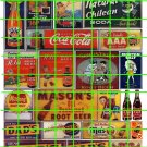 076 - Assorted Ad Set 39 SODA COKE DAD'S ROOT BEER MASONS  R-LA AD SIGNS