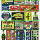 5016 - Assorted Ad Set 7 AUTO TOBACCO FARM MILK GUM RADIO