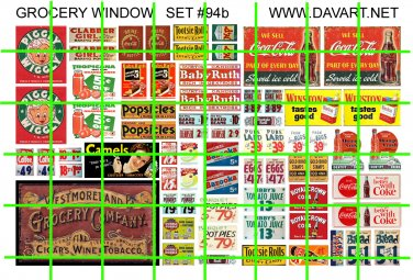 5019 GROCERY WINDOW PRICE SIGN Half Sheet