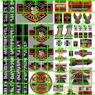 7002  - HARLEY DAVIDSON BAR HOG HEAD SALOON CUSTOM DECALS