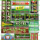 5029 - BOWLING PAINT BUSINESS FURNITURE PARKING FRUIT SIGNS