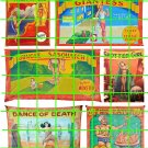 3006 - Circus Side Show Banners 4 Armless Girl Spotted Girl Dance of Death