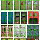 """8004 - 1.25"""" REALISTIC DOOR DECALS FOR HO SCALE SIZE DOORS"""