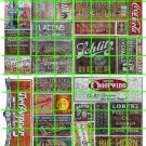 N004 - N SCALE DECAL SET GHOST ADVERTISING DR PEPPER SCHLITZ CHEERWINE