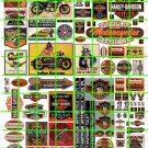N011 - N SCALE HARLEY DAVIDSON INDIAN MOTORCYCLES BUILDING ADVERTISING SIGNAGE