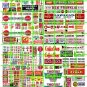 N015 - N SCALE DECALS ASST'D GROCERY ADVERTISING SIGNAGE PRODUCE WINDOW PRICES STORE HEADERS