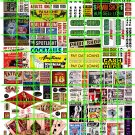 N018 - N SCALE DECALS STRIP CLUB ADULT BOOKSTORE TATTOO PARLOR BARS BURLESQUE